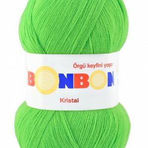 Fir de tricotat sau crosetat - Fire tip mohair din acril BONBON KRISTAL VERDE 98395