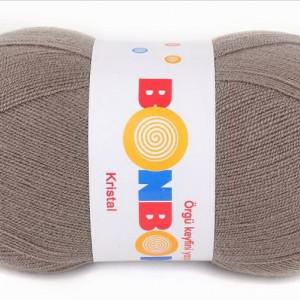Fir de tricotat sau crosetat - Fire tip mohair din acril BONBON KRISTAL GRI 98324