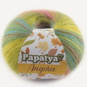 Fir de tricotat sau crosetat - Fire tip mohair din acril Kamgarn Papatya Angora degrade 61