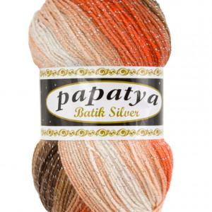 Fir de tricotat sau crosetat - Fire tip mohair din acril Kamgarn Papatya Silver Batik degrade 30