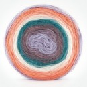 Fir de tricotat sau crosetat - Fire tip mohair din acril Kamgarn Papatya CAKE degrade 210