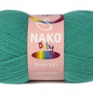 Fir de tricotat sau crosetat - Fire tip mohair din acril Nako Baby TURQUAZ 4240