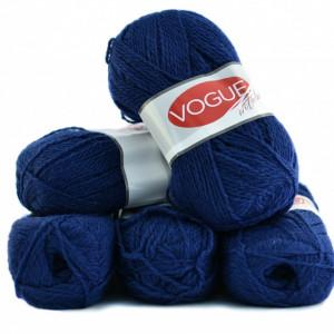 Fir de tricotat sau crosetat - Fire tip mohair din acril Nako Export - #7324- ALBASTRU