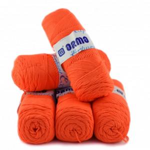 Fir de tricotat sau crosetat - Fire tip mohair din acril Nako Export - #8005-PORTOCALIU FOSFORESCENT