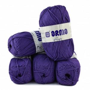 Fir de tricotat sau crosetat - Fire tip mohair din acril Nako Export - #8049-MOV