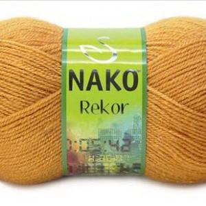 Fir de tricotat sau crosetat - Fire tip mohair din acril premium Nako REKOR BEJ 10129