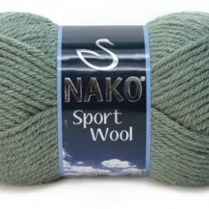 Fir de tricotat sau crosetat - Fire tip mohair din acril si lana Nako Sport Wool KAKI 1631