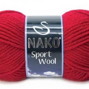 Fir de tricotat sau crosetat - Fire tip mohair din acril si lana Nako Sport Wool rosu 3641
