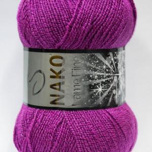 Fir de tricotat sau crosetat - Fire tip mohair din acril si poliester metalic NAKO LAME FINE MOV 10455MR