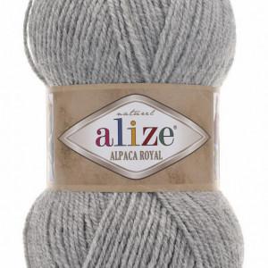 Fir de tricotat sau crosetat - Fire tip mohair din alpaca 30%, lana 15%, acril 55% Alize Alpaca Royal GRI 21