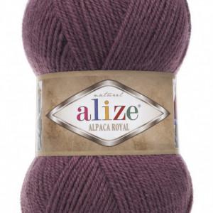 Fir de tricotat sau crosetat - Fire tip mohair din alpaca 30%, lana 15%, acril 55% Alize Alpaca Royal MOV 169