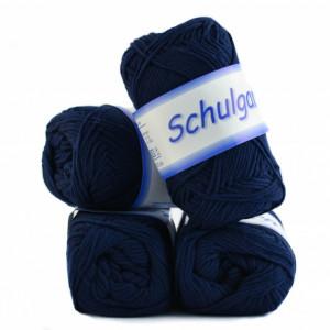 Fir de tricotat sau crosetat - Fire tip mohair din bumbac Schulgarn - BLEUMARIN - 11 -