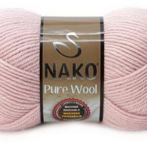 Fir de tricotat sau crosetat - Fire tip mohair din lana 100% Nako PURE WOOL ROZ 318