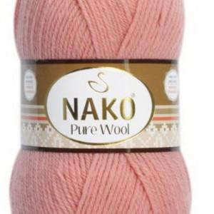 Fir de tricotat sau crosetat - Fire tip mohair din lana 100% Nako PURE WOOL 11948