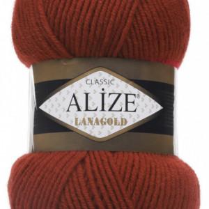 Fir de tricotat sau crosetat - Fire tip mohair din lana 49% si acril 51% Alize Lanagold Maro 36