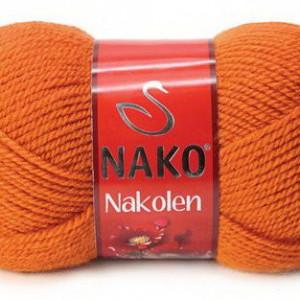 Fir de tricotat sau crosetat - Fire tip mohair din lana 50% si acril 50% Nakolen PORTOCALIU 6963