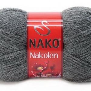 Fir de tricotat sau crosetat - Fire tip mohair din lana 50% si acril 50% Nakolen GRI 193