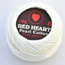 Cotton perle RED HEART cod WHITE