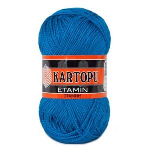 Fir de tricotat,brodat sau crosetat - Fir KARTOPU ETAMIN ALBASTRU 525