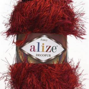 Fir de tricotat sau crosetat - FANCY - ALIZE DECOFUR ROSU 1373