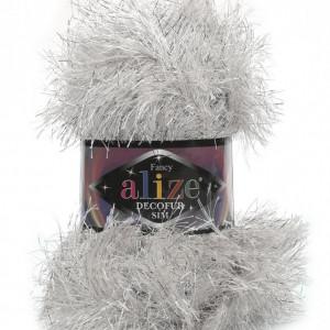 Fir de tricotat sau crosetat - FANCY - ALIZE DECOFUR SIM - ARGINTIU - 55 - 02