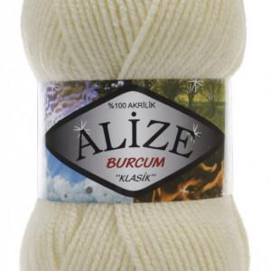 Fir de tricotat sau crosetat - Fir ACRILIC ALIZE BURCUM KLASIK CREAM 01