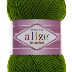 Fir de tricotat sau crosetat - Fir ALIZE COTTON GOLD VERDE 35