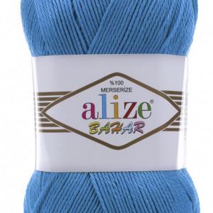 Fir de tricotat sau crosetat - Fir BUMBAC 100% ALIZE BAHAR ALBASTRU 611