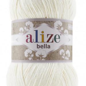 Fir de tricotat sau crosetat - Fir BUMBAC 100% ALIZE BELLA 100 - CREAM 62