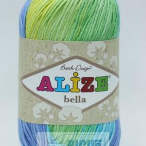 Fir de tricotat sau crosetat - Fir BUMBAC 100% ALIZE BELLA BATIK 4150