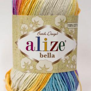 Fir de tricotat sau crosetat - Fir BUMBAC 100% ALIZE BELLA BATIK 4538
