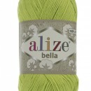 Fir de tricotat sau crosetat - Fir BUMBAC 100% ALIZE BELLA - VERNIL 612
