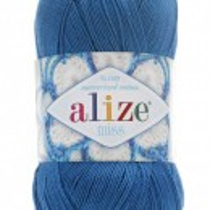 Fir de tricotat sau crosetat - Fir BUMBAC 100% ALIZE MISS ALBASTRU 94