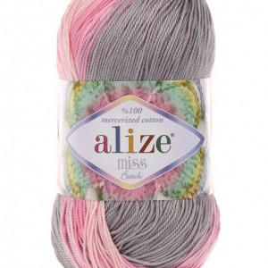 Fir de tricotat sau crosetat - Fir BUMBAC 100% ALIZE MISS BATIK DEGRADE 3245
