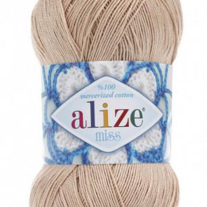 Fir de tricotat sau crosetat - Fir BUMBAC 100% ALIZE MISS BEJ 368