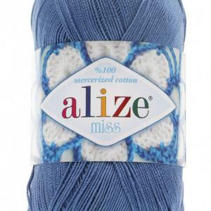 Fir de tricotat sau crosetat - Fir BUMBAC 100% ALIZE MISS BLEO 303