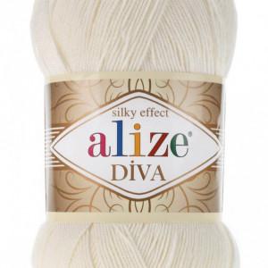 Fir de tricotat sau crosetat - Fir microfibra ALIZE DIVA CREAM 62