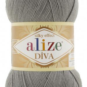 Fir de tricotat sau crosetat - Fir microfibra ALIZE DIVA GRI 87