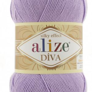 Fir de tricotat sau crosetat - Fir microfibra ALIZE DIVA LILA 43
