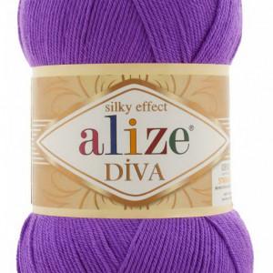 Fir de tricotat sau crosetat - Fir microfibra ALIZE DIVA MOV 325