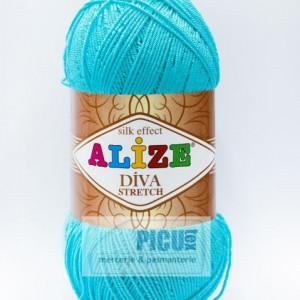 Fir de tricotat sau crosetat - Fir microfibra ALIZE DIVA STRETCH BLEO 376