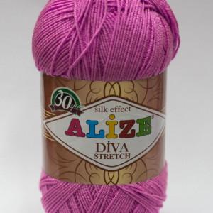 Fir de tricotat sau crosetat - Fir microfibra ALIZE DIVA STRETCH ROZ 378