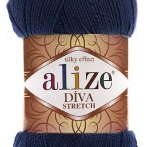 Fir de tricotat sau crosetat - Fir microfibra ALIZE DIVA STRETCH ALBASTRU 361