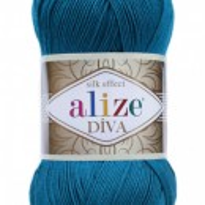 Fir de tricotat sau crosetat - Fir microfibra ALIZE DIVA TURQUAZ 646