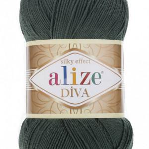 Fir de tricotat sau crosetat - Fir microfibra ALIZE DIVA VERDE 131