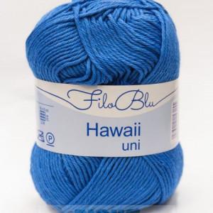 Fir de tricotat sau crosetat - Fire amestec Bumbac 100% GRUNDL HAWAII UNI - ALBASTRU - 08