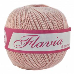Fir de tricotat sau crosetat - Fire Bumbac 100% FLAVIA ROMANOFIR BOBINA ROZ 1206
