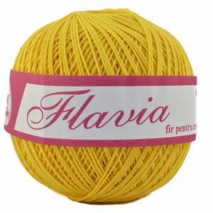 Fir de tricotat sau crosetat - Fire Bumbac 100% FLAVIA ROMANOFIR BOBINA GALBEN 1310