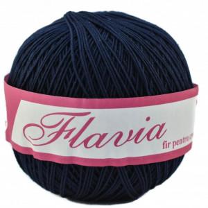 Fir de tricotat sau crosetat - Fire Bumbac 100% FLAVIA ROMANOFIR BOBINA BLEUMARIN 108