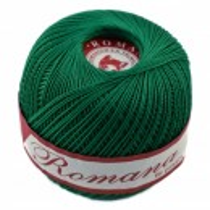 Fir de tricotat sau crosetat - Fire Bumbac 100% ROMANA - ROMANOFIR BOBINA VERDE 1252